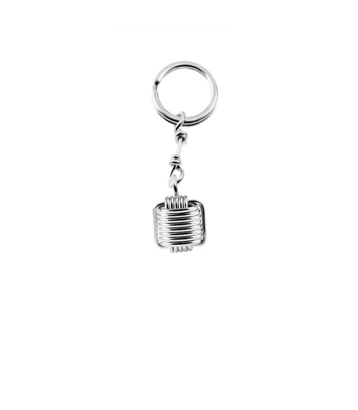 Silver knot keychain