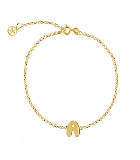 Gold custom bracelet with...