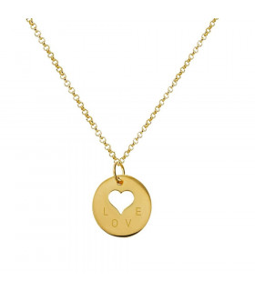 Gold Pendant Love