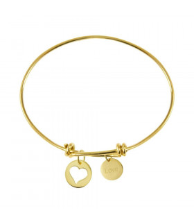 Gold bracelet with heart...