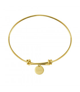 Gold bracelet with Love medal