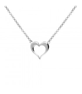 Necklace silhouette heart