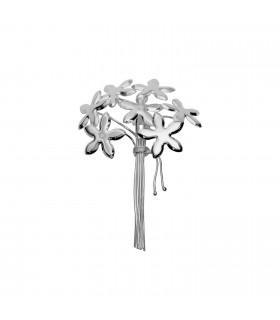 Silver jasmine brooch