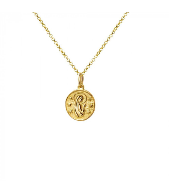 Virgin Mary pendant in sterling gold