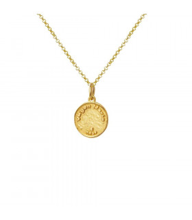 Virgin Mary necklace in gold