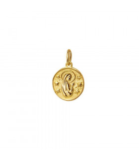 Virgin Mary pendants in sterling gold