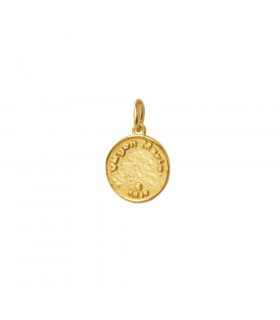 Gold pendant of the Virgin Mary