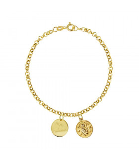 Gold bracelet Virgin Mary