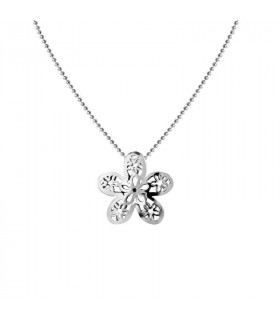 Openwork jasmine silver necklace