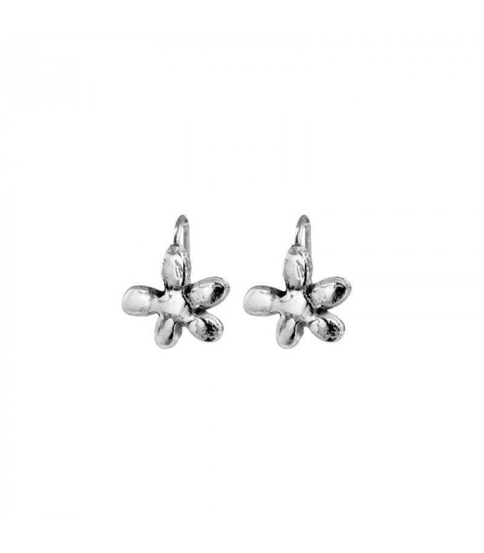 Rugged silver jasmine earring