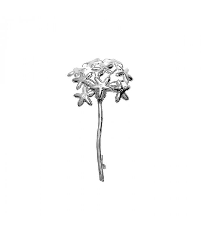 Silver biznaga brooch