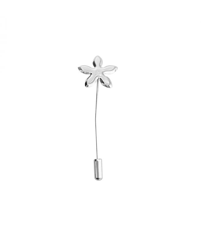 Silver jasmine pin
