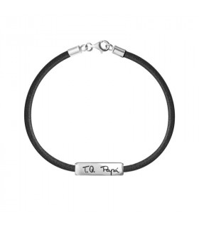 TQ Dad bracelet in leather and silver