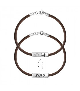 Chocolate brown personalized bracelets