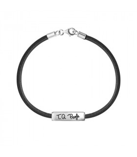 Leather bracelet I love you Dad in silver