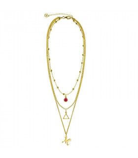 Gargantilla dorada inicial y triángulo