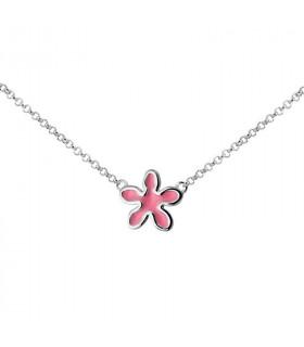 Enameled Jasmine necklace