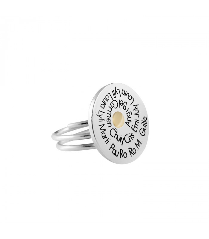 Personalized ring with phrases