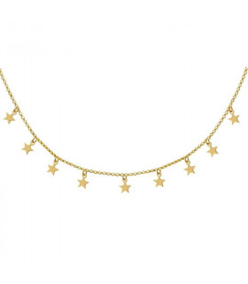 Gargantilla estrellas plata baño oro