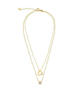Midi choker with heart and gem