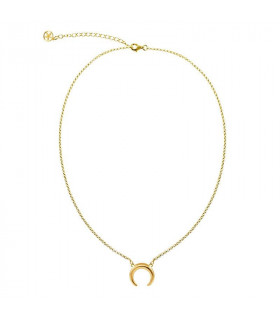 Gold Necklace Inverted Moon