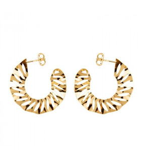 Zigzag gold-plated earrings