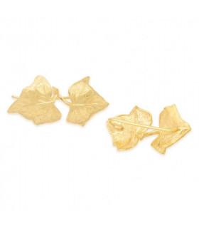 Earrings leaves with pearls