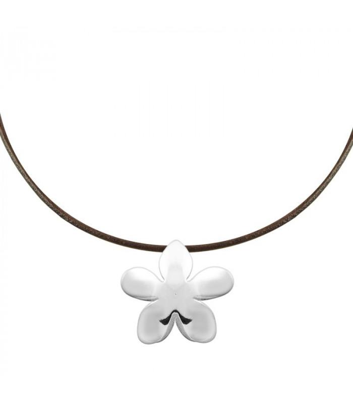 Silver jasmine pendant