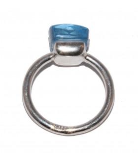 Aquamarine ring in silver