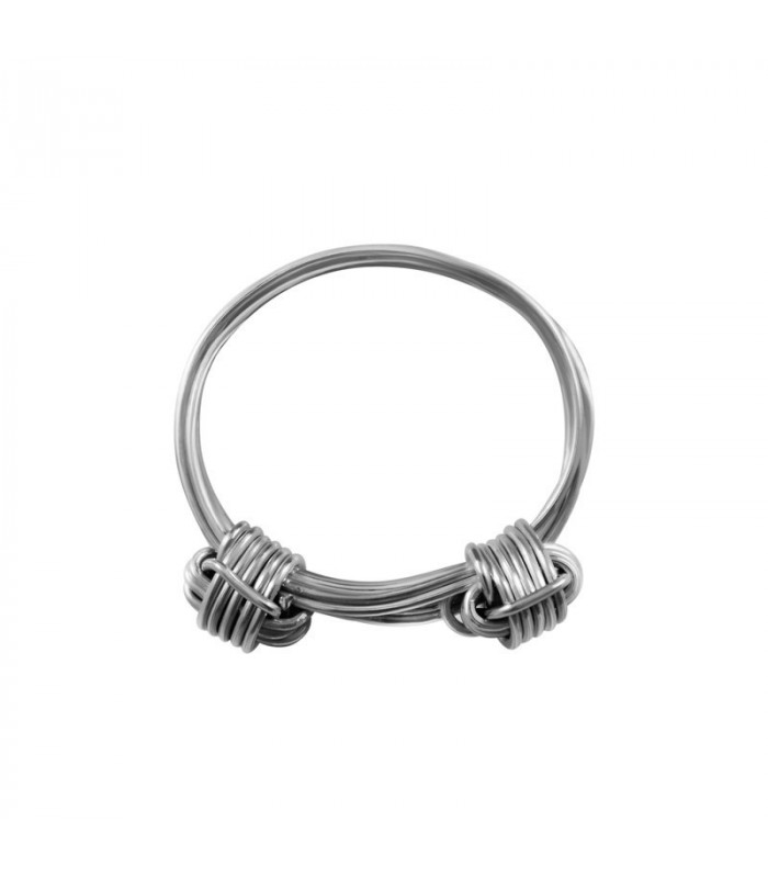 Silver knots ring