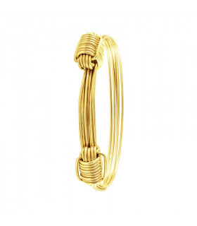 Pulsera de nudos de oro