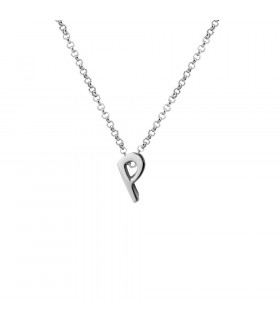 Personalized initial and chain pendant