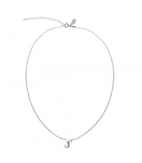 Initial choker in sterling silver letter S