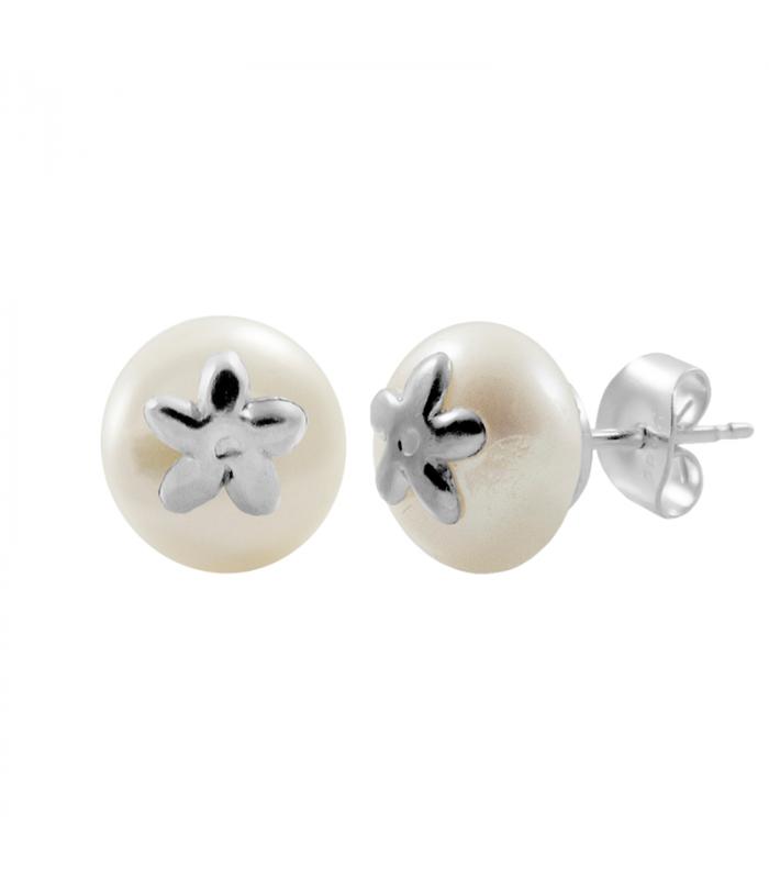 Pendiente jazmín perla 10mm