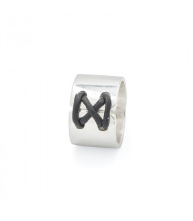Lazada Ring with leather