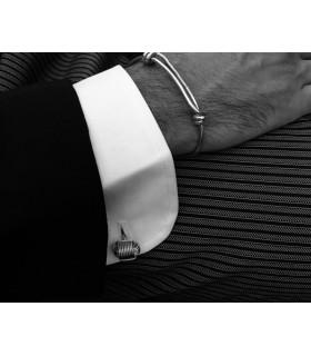 Silver knot men's bracelet