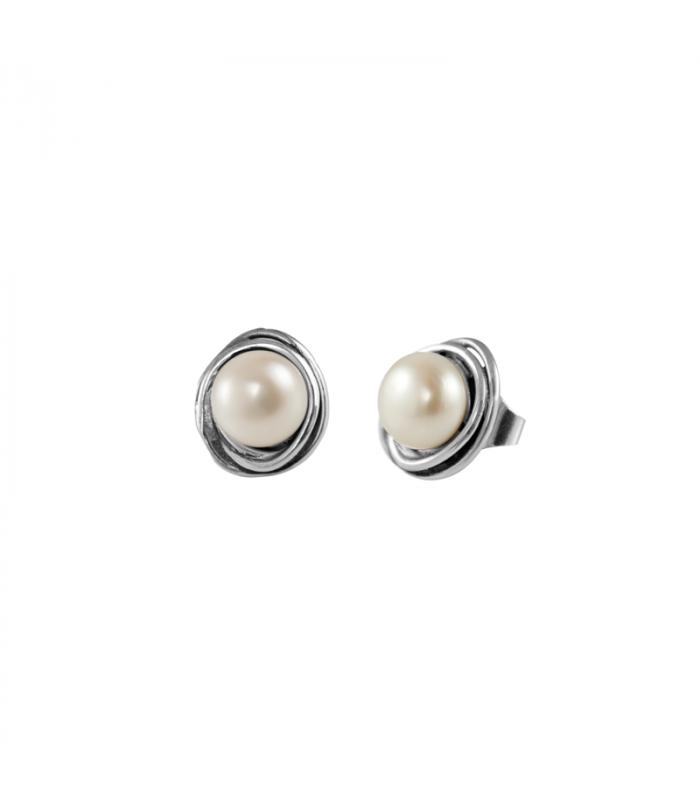 Silver Relio Pearl Earring