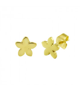 Gold jasmine earrings