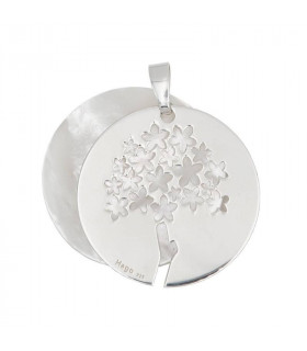 Nacre pendant with biznaga