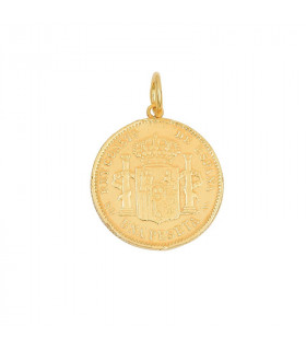 Colgante peseta Alfonso XIII