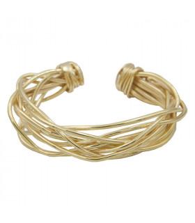 Cross Knot Bracelet brass