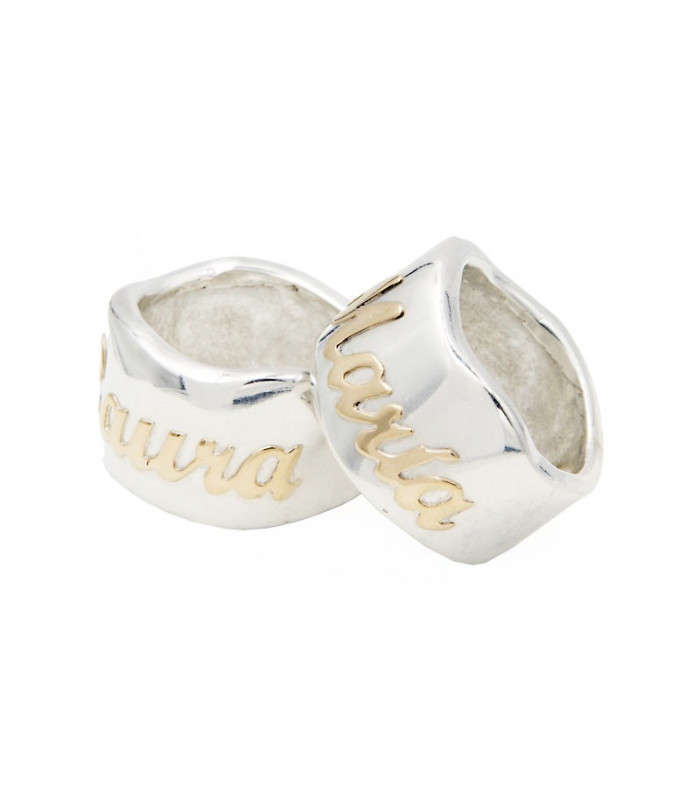personalized ring with name in gold