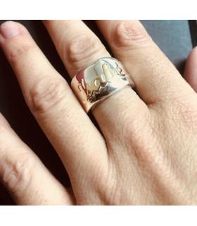 anillo plata y oro personalizado