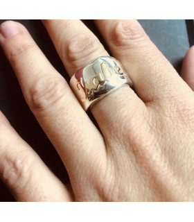 custom silver and gold ring