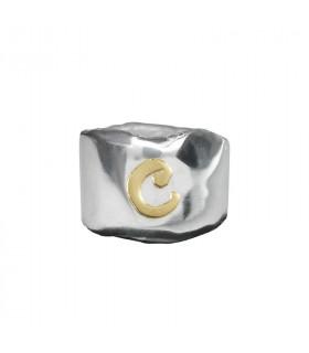 Anillo plata y oro C