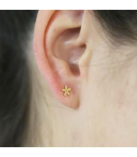 Essential double earring martelé 1