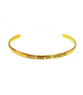 Golden bracelet Horizonte...