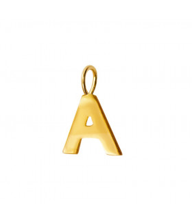 Initial pendant gold...