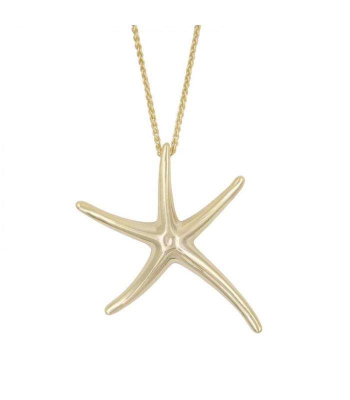 Gargantillas estrellas de mar dorada