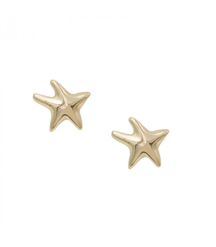 Pendientes estrella dorados